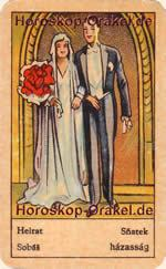 Marriage fortune telling card