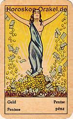 Money fortune telling card