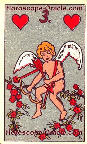 Lenormand Horoscope card the cupid