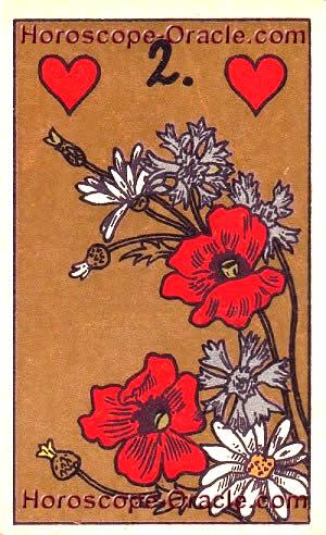 Lenormand Horoscope card the flower
