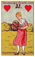 The Lady, meaning of Lenormand Horoscope Card