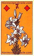 The Lilies, meaning of Lenormand Horoscope Card
