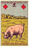 The Pig, meaning of Lenormand Horoscope Card