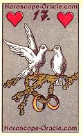The Pigeons, meaning of Lenormand Horoscope Card