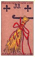 The Rod, meaning of Lenormand Horoscope Card