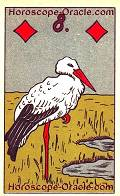 The Stork, meaning of Lenormand Horoscope Card