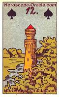 The Tower, meaning of Lenormand Horoscope Card