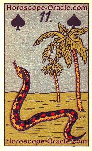 Lenormand Horoscope card the snake