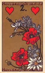 The Flower, meaning of Lenormand Horoscope Card