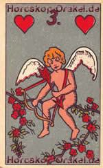 The Cupid, meaning of Lenormand Horoscope Card