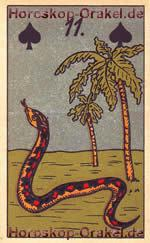 The Snake, meaning of Lenormand Horoscope Card