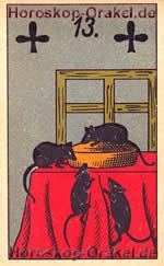 The Mice, meaning of Lenormand Horoscope Card