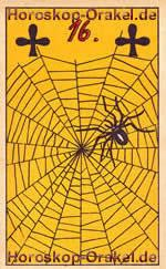 The Spider, meaning of Lenormand Horoscope Card