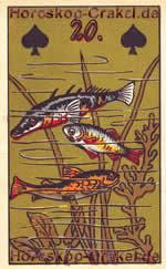 The Fishes, meaning of Lenormand Horoscope Card