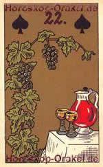 The Wine, meaning of Lenormand Horoscope Card