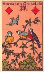 The Birds, meaning of Lenormand Horoscope Card