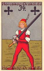 The Sword, meaning of Lenormand Horoscope Card