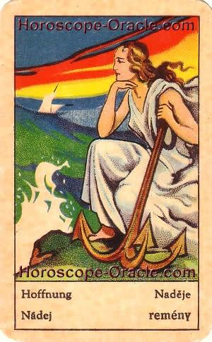 Horoscope tarot card the hope