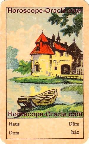 Horoscope tarot card the house